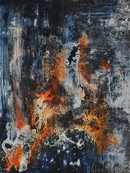 Vinita Parambi - Rajoguna - Mode of Passion Acrylic, Oil & Cement on Canvas, Paintings