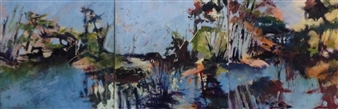 Judy Howie Coury - Pondicherry Marsh Oil on Canvas, Paintings
