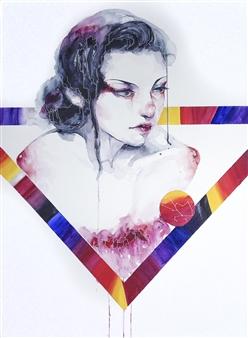 Jieting Chen - Reborn Watercolor on Paper, Paintings