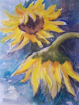 Lyudmyla Voloshyna - Respect Watercolor on Paper, Paintings