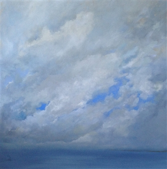 Luba M. Caruso - A Passing Storm Oil on Canvas, Paintings