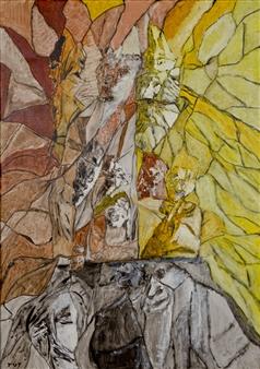 Wojciech Tut Chechliński - Wisdom Oil on Canvas, Paintings