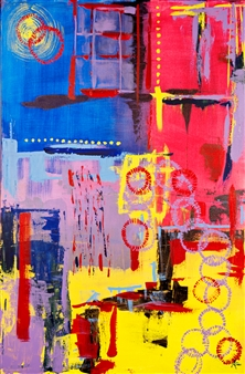 Amanda Von Riesen - Young Minds Acrylic on Canvas, Paintings