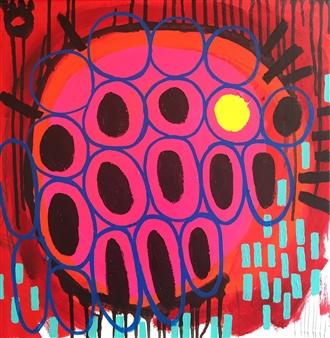Luz Benavente - Bubbles Acrylic on Canvas, Paintings