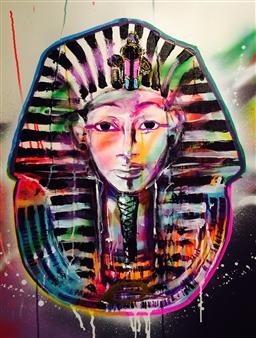 Mobarick Abdullah III - Tut Spray Paint on Canvas, Paintings