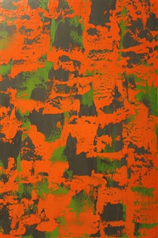 Katherine Austin - A Pop of Green Acrylic on Canvas, Paintings