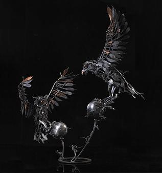 Banjerd Lekkong - View 3 - Different Time, Different Period Iron, Sculpture