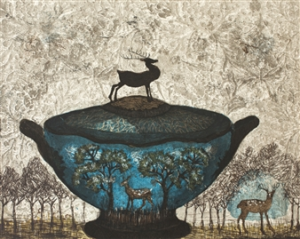 Kirsi Neuvonen - Bambi Etching on Paper, Prints