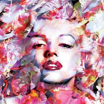 Antonio Zegarra - Marilyn Print on Canvas, Prints