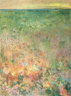 Lois Gold - Sunlit Field Mixed Media on Canvas
