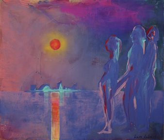 Lars Aukrust - Monet Sunset Acrylic on Canvas, Paintings