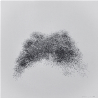 Michelin Basso - Untitled 6 Graphite on Canvas, Drawings