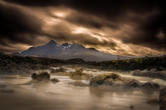 Karl Girardet - Fire in Skye Photograph on Hahnemühle Paper, Photography