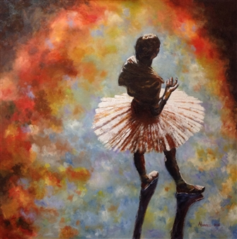 Cesar Alvarez - Ensayando Oil on Canvas, Paintings