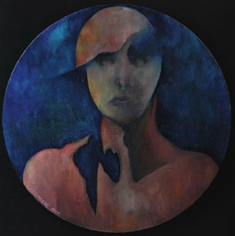 Larry Greenberg - A Portrait Oil on Canvas, Paintings