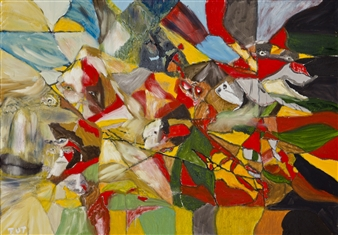 Wojciech Tut Chechliński - Armageddon Oil on Canvas, Paintings