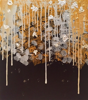 Elke Riedel - Xmas Acrylic & Metal on Canvas, Mixed Media