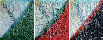 Stivi - Life: Hope, Love, Death (triptych) Mixed Media on Canvas, Mixed Media