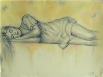 Charlotte Lisboa - Calm Graphite on Paper, Drawings