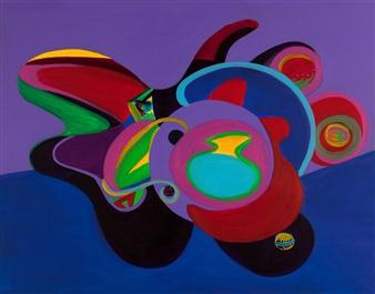 Jessie Banaszak - Arizona Landscape II Acrylic on Canvas, Paintings