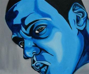 Sydnei SmithJordan - Jay-Z Oil on Canvas, Paintings