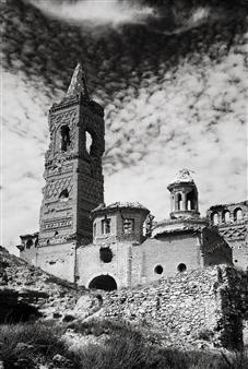 Martin Grace - La Guerra Civil Espanola - Belchite Pueblo Viejo Photographic Print on Aluminum Dibond, Photography