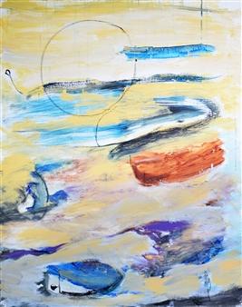 Clea von Döhren - June Fullmoon Acrylic on Linen, Paintings