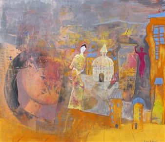 Lars Aukrust - Doll Stories Acrylic on Canvas, Paintings