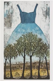Kirsi Neuvonen - Saarnilehto (Ash Grove) Etching on Paper, Prints