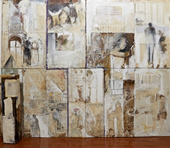 Pedro Alberti - Again and Again Mixed Media on Canvas, Mixed Media