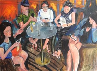 Marlene Kurland - Oblivious Oil on Canvas, Paintings
