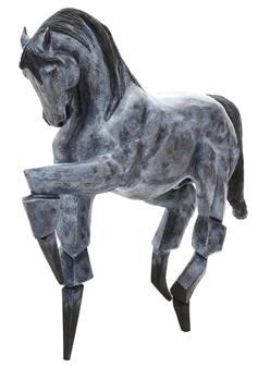 German Arzate - Caballo Azul (Blue Horse) Bronze, Sculpture