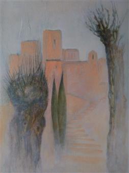 Jana Kamila Masik - La Bastide au Printemps Acrylic on Canvas, Paintings