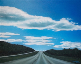 Grace Dam - Highway #1 Oil on Canvas, Paintings