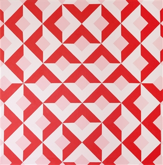 Osvaldo Bacman - The Mystery of Geometry #5 Acrylic on Canvas, Paintings