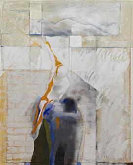 Pedro Alberti - Heaven is Above Acrylic & Mixed Media on Paper, Mixed Media