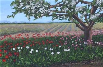Johanna Wray - Skagit Valley, WA Acrylic on Canvas, Paintings