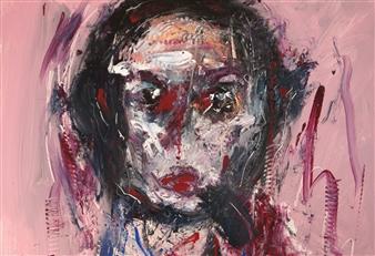Philippe Thélin - A Child's Portrait Acrylic on Canvas, Paintings