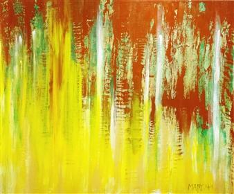David J. Marchi - Seasons: Fall Acrylic on Canvas, Paintings