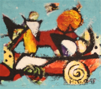 Hilde Gustava - The Great Journey  and 11 Acrylic & Fiber on Textured Canvas, Mixed Media