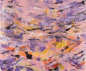 Vida Ryan - Flamingo Acrylic on Canvas, Paintings