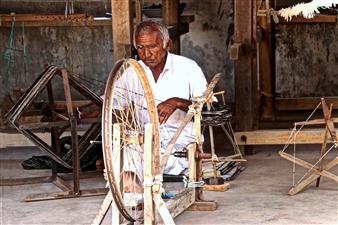 Riya Sharma - Working Old Hands Photograph on Fine Art Paper, Photography
