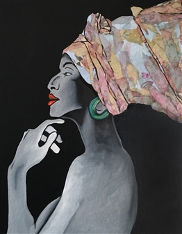 Sydnei SmithJordan - Contemplation Oil & Acrylic on Canvas, Paintings