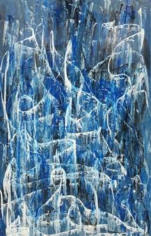 F. Pavon - Contemplacion Acrylic on Board, Paintings