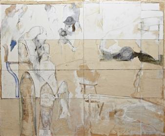 Pedro Alberti - Conversation with the Master Mixed Media on Canvas, Mixed Media
