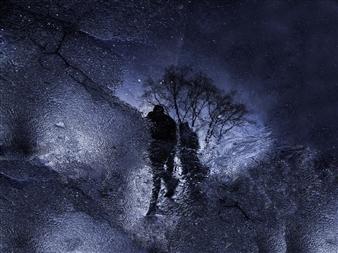 Mache del Campo - Stars Walking Photograph on Metallic Paper, Photography
