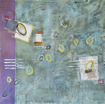 Kerstin Lundin - Unshrinkable Oil & Mixed Media on Canvas, Mixed Media