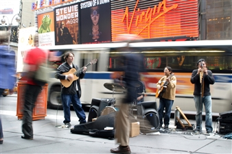 Angélica Allen - Music in Times Square Digital Photography, Photography