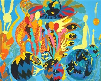 Sofya Tsvetikova - We Are Never Alone Acrylic on Canvas, Paintings