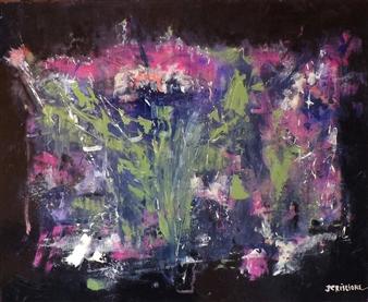 Joan Criscione - I'm OK Mixed Media on Canvas, Mixed Media